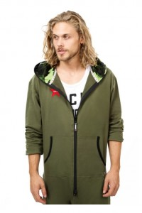 Adult mens Onesie Olive